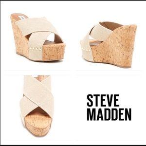 Steve Madden pride platform slide wedges